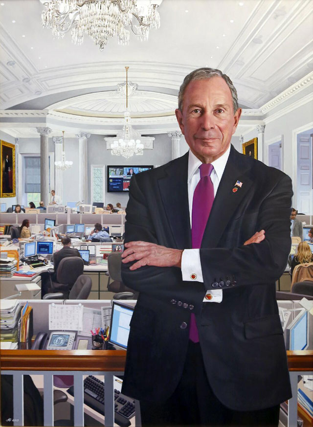 Bloomberg's official mayoral portrait (via NYC Mayor's Office on Twitter)
