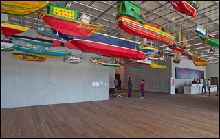Hew Locke installation at the entrance to the museum (photo by Visit Florida, via Flickr) (click to enlarge)