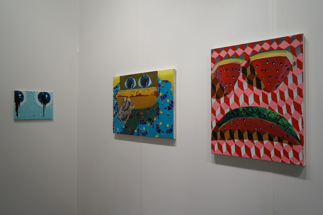 Paintings by Philip Hinge at Connersmith's booth