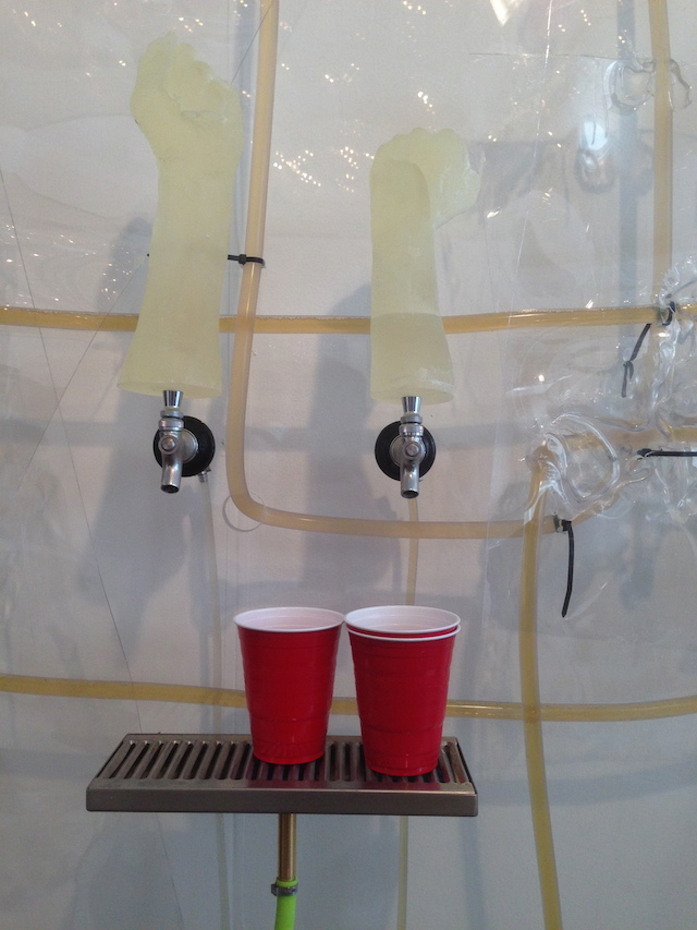 """A functioning """"Beer Installation"""" by Michiel Ceulers & Anthony Salvador at Mihai Nicodim gallery"""