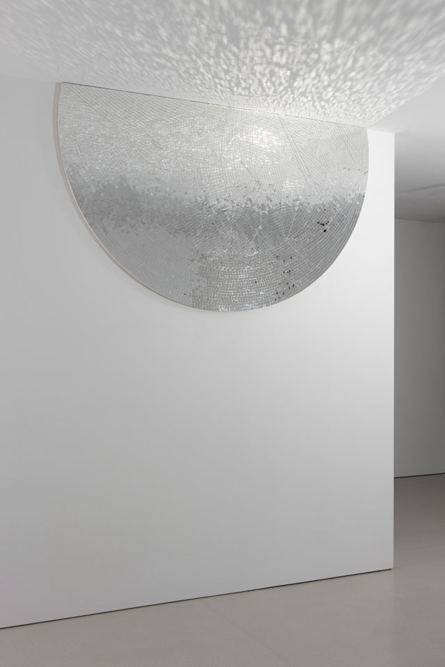 "Jim Hodges, ""Movements (Stage IV)"" (2009), mirror on canvas, 96 x 57 in (photo by Ronald Amstutz, © Jim Hodges) (all images courtesy Dallas Museum of Art)"