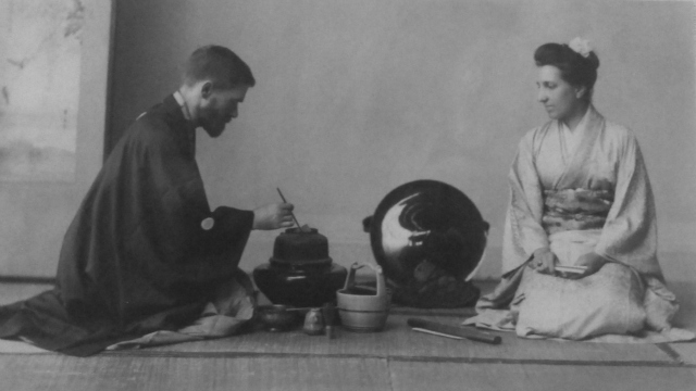 Bashford Dean and his wife in Japan (photograph by the author from the exhibition)