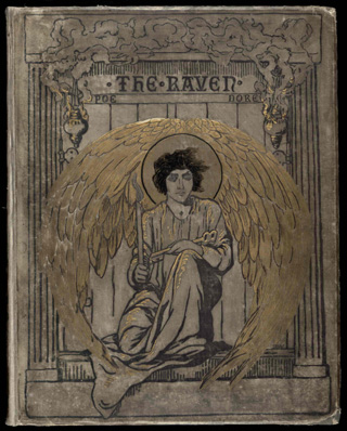 """The cover of Dore's illustrated editor of Edgar Allan Poe's """"The Raven"""""""