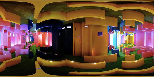 A Reversible Destiny House designed by Madeline Gins with her husband Arakawa (photograph by Masakazu Matsumoto, via Flickr)