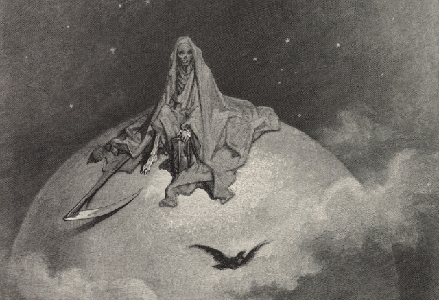 """Edgar Allan Poe's """"The Raven"""" illustrated by Gustave Doré (all images via the Library of Congress)"""
