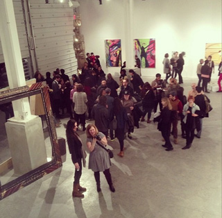 A view of the WOW art exhibition (courtesy Rebecca Uchill's Instagram feed)