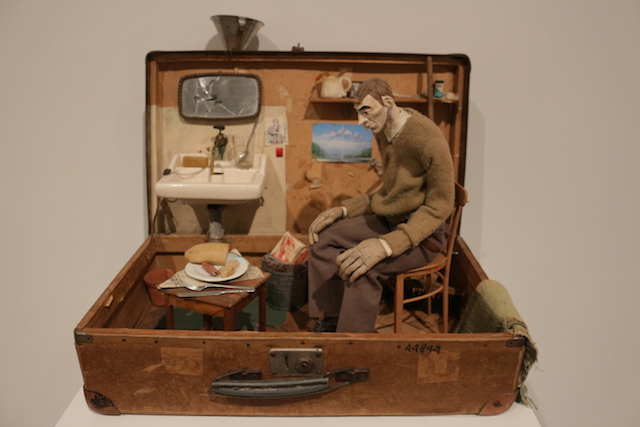 "Paweł Althamer, ""Self Portrait in a Suitcase"" (1996)"