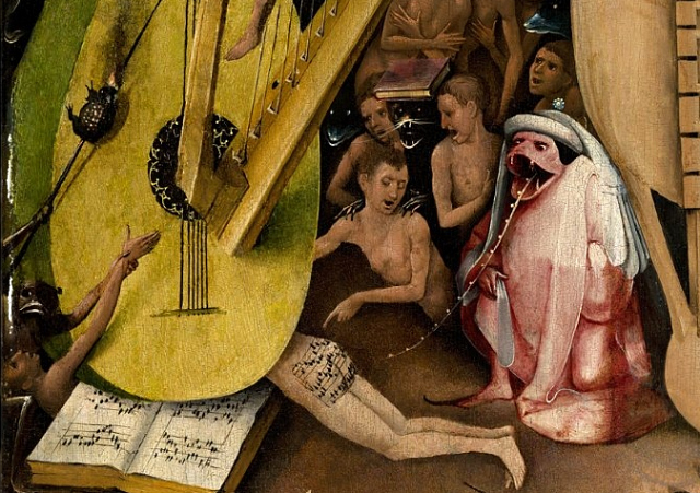 "Hieronymus Bosch, ""The Garden of Earthly Delights"" (1480-1505), oil on panel (via Prado Museum)"