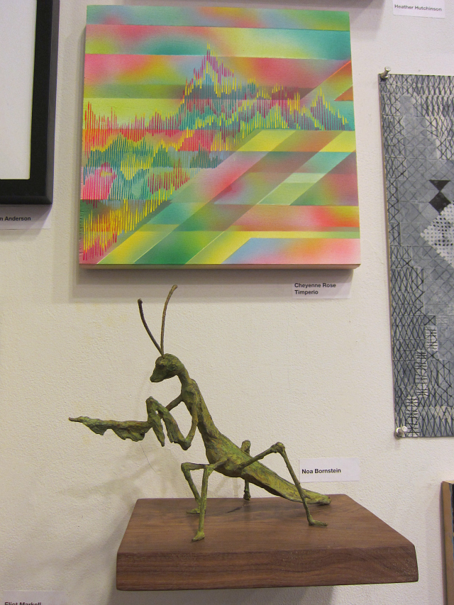 Painting by Cheyenne Rose Timperio and sculpture by Noa Bornstein