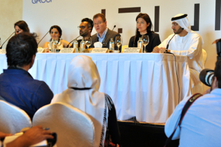 The Art Dubai press conference on Tuesday, March 18, 2014