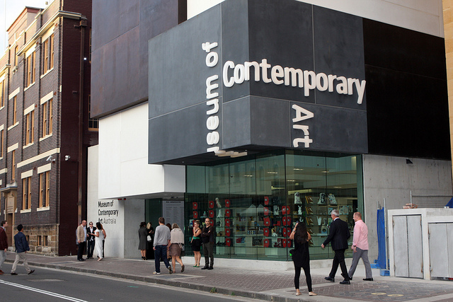 The MCA Australia is one of the venues for the Biennale of Sydney, and its zine fair is now a target of protesters as well. (photo by Eva Rinaldi, via Flickr)