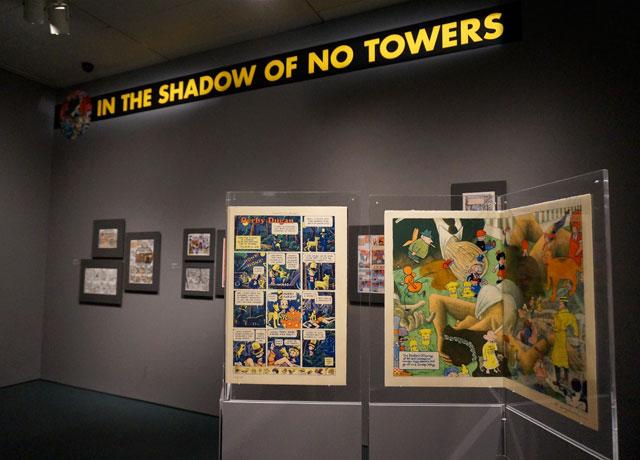 "Installation view, ""Art Spiegelman's Co-Mix: A Retrospective"" at the Jewish Museum"