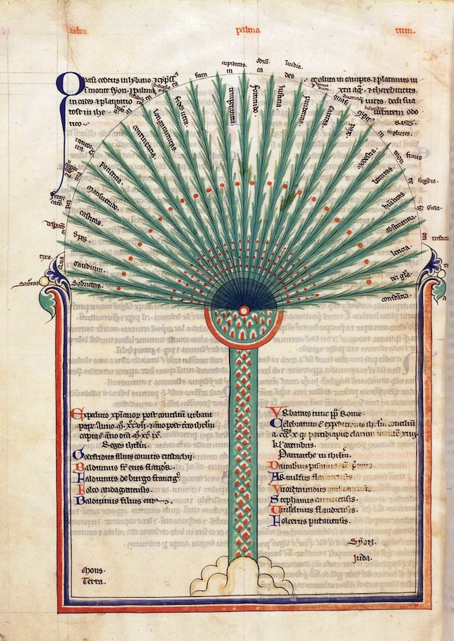 """Tree of Virtues"" from Lambert of Saint-Omer's ""Liber floridus (Book of flowers)"" (1250)"
