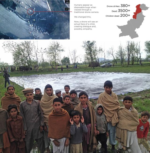 Local Pakistani residents near the #NotaBugSplat image on the group. (all images via notabugsplat.com)