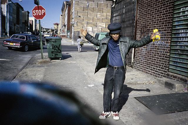 "Meryl Meisler, ""High Hat Hands Raised"" (Bushwick, Brooklyn, April 1982)"