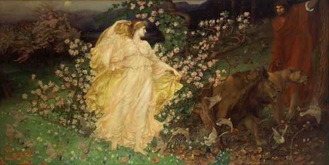 "William Blake Richmond, ""Venus and Anchises"" (1889-90), oil on canvas (via Walker Art Gallery)"