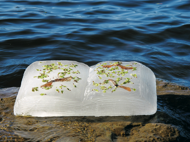 Basia Irland, Ottawa River Book III, 2012.  Image credit: Photo Clair Long. Courtesy the artist.