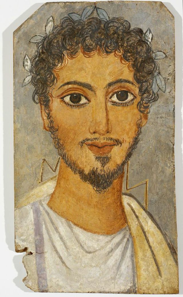 Egyptian, Roman Period, Portrait of a Man, ca. 260 CE. Mary B. Jackson Fund. (Images courtesy of the RISD Museum,  Providence, RI.)