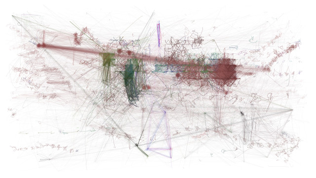 """Screen capture from The Matrix through, """"Computers Watching Movies,"""" (2013)"""