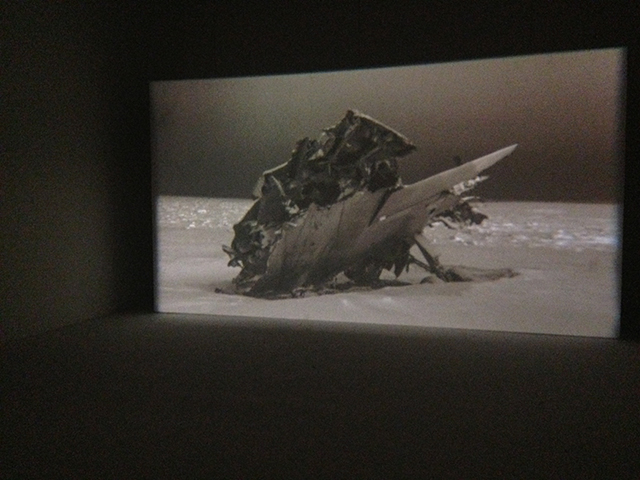 """Charles Stankievech, """"The Soniferous Aether of Land Beyond the Land Beyond"""" (2012), 16 mm film installation"""