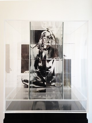 "Jack Dale, ""Untitled Cubed Woman"" (1970), photosensitized glass, Plexiglas Unique, 22 x 20 x 20 in (55.88 x 50.8 x 50.8 cm) (click to enlarge)"