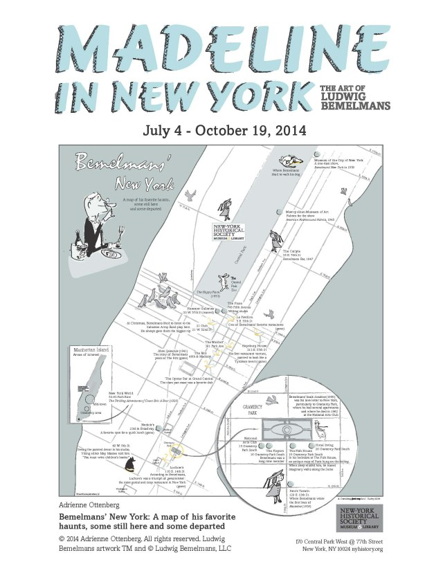 """Bemelmans' New York"" illustrated by Adrienne Ottenburg (courtesy the artist & the New-York Historical Society)"