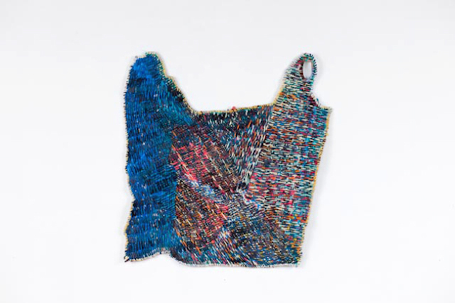 "Josh Blackwell, ""Plastic Basket (Box)"" (2013), mixed media, 16 1/2 x 14 3/4 inches (via jasonmccoyinc.com)"