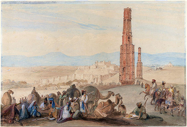 The Victory Towers, painted by James Atkinson around 1839 (image via Wikimedia)