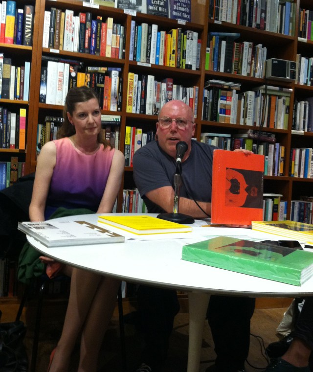 Christopher Williams speaking at 192 Books (photo by the author for Hyperallergic)