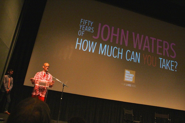John Waters at Lincoln Center (photo by Gerry Visco/Hyperallergic)