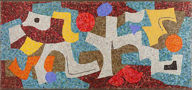 Abstract , 1953, by Carlos Merida was recently gifted to the Blanton Museum in Austin (all images courtesy of the Blanton Museum)