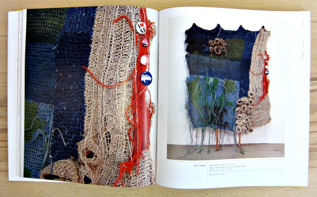 "Art by Josh Faught in ""Fiber: Sculpture 1960-Present"" (photograph by the author)"