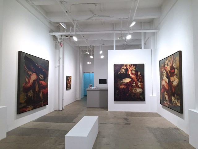 Installation view, 'Dana Saulnier: Stacks and Traps' at First Street Gallery (image courtesy First Street Gallery)