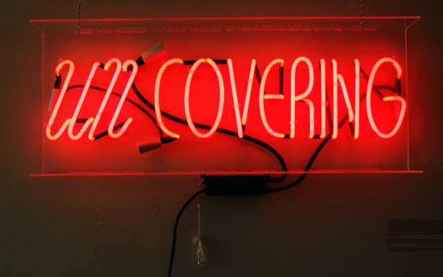 "Chelsea Rae Klein, ""Uncovering"" (2014), Neon, Glass Tubes, Plastic, Transformer"