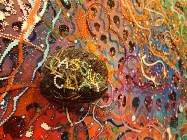 """Detail of Chris Ofili, """"Afrodizzia"""" (1996)"""