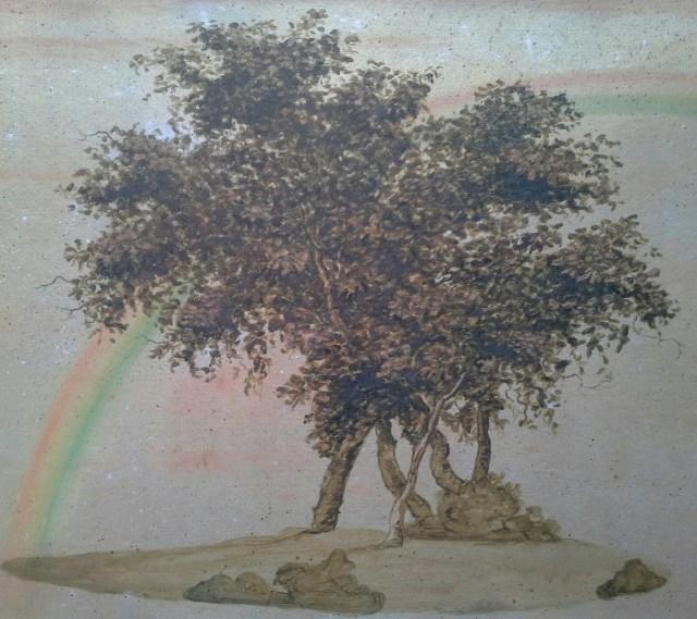 "Paula Kane, ""Trees and Rainbow"" (image courtesy the artist)"