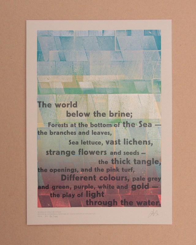 Letterpress print by Justin Knopp (image courtesy the artist)