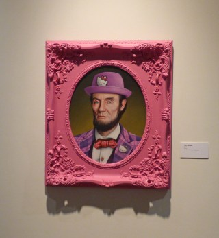 "Scott Scheidly, ""Hello Lincoln,"" oil on canvas (click to enlarge)"