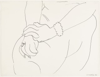 "Henri Matisse, ""Etude Mains"" (1944), pencil on paper, 40 x 51 cm, private collection, Toronto (click to enlarge)"