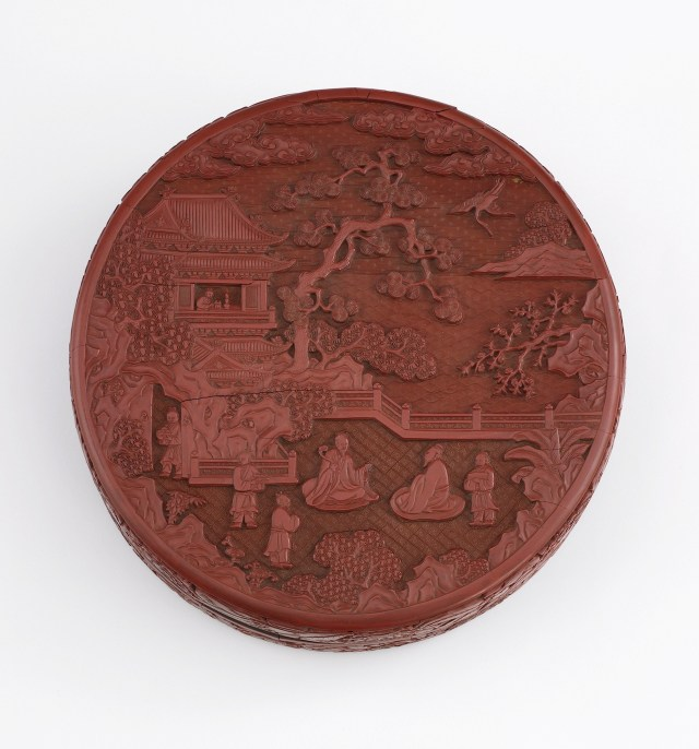 """""""Lacquer box"""" (1403–24), China, Ming dynasty, Yongle reign, carved red lacquer (tihong) on wood core; Purchase; Freer Gallery of Art"""