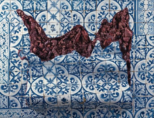 """Adriana Varejão's """"Carpet-style Tilework in Live Flesh"""" (1999)"""