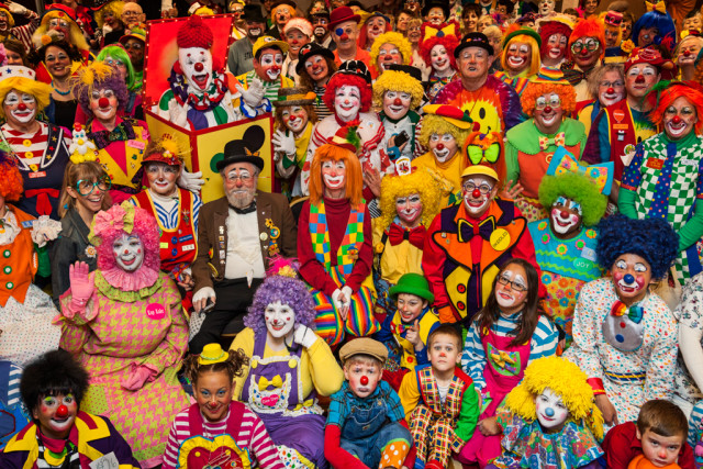 Clowns at the World Clown Association convention (All images courtesy of Arthur Drooker)
