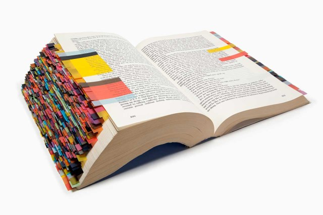Page 800: David Foster Wallace averages four color references per page of 'Infinite Jest,' bringing life to a text that might otherwise be too dark (or heavy) to hold up.