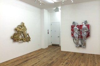 Installation view, 'Entang Wiharso' at Marc Straus (click to enlarge)