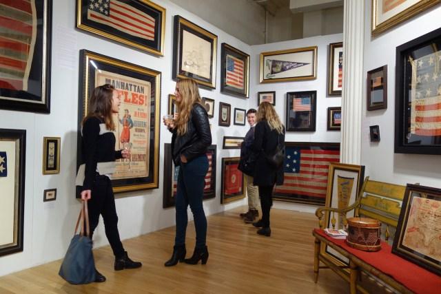 Flags at Jeff R. Bridgman American Antiques