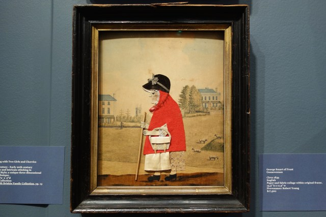 """George Smart of Frant, """"Goosewoman"""" (1835), paper and fabric collage, Just Folk Gallery"""