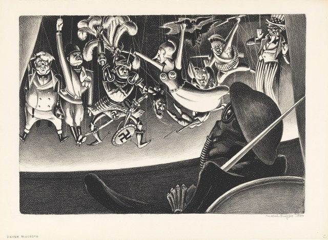 """Mabel Dwight, }Danse Macabre"""" (c.1934), lithograph, 11 3/8 x 15 3/4 in., Mary and Leigh Block Museum of Art, Northwestern University, 1995.59"""
