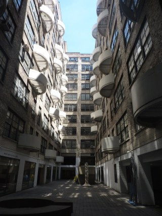 The courtyard of the Westbeth Artists Community (photo via Wikimedia Commons)