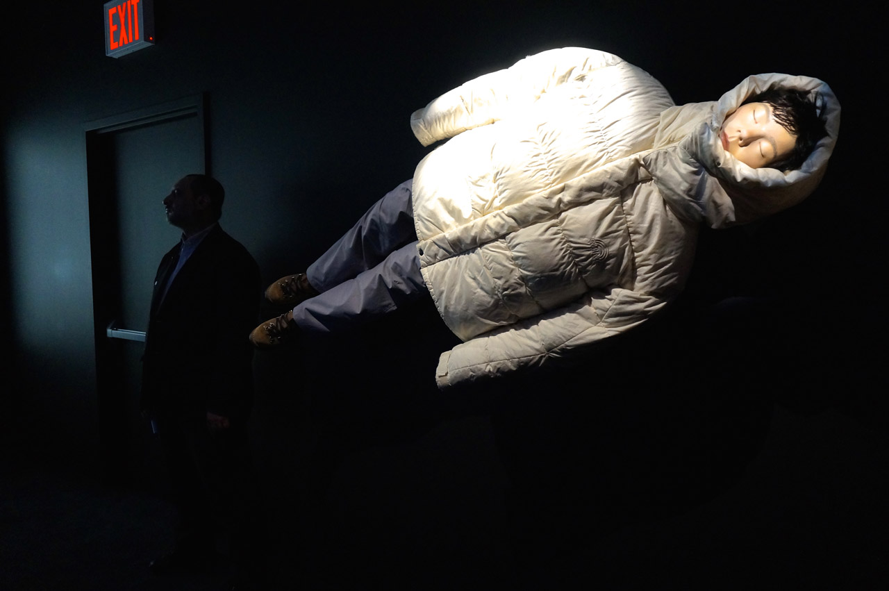 "Coat from ""Jóga"" Music Video (1997) (photo by Jillian Steinhauer/Hyperallergic)"