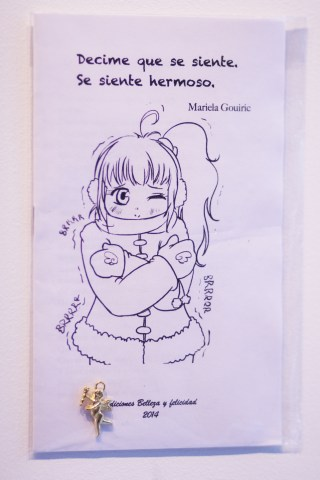 "Mariela Gouirie, ""Decime que se siente. Se siente hermoso."" (Tell me how it feels. It feels beautiful.) Printer paper"